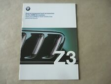 1999 BMW Z3 ROADSTER Accessories Catalogue Brochure Prospekt Déplian English