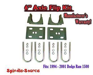 """1994 - 2001 Dodge Ram 1500 6"""" Inch Lowering Drop REAR AXLE FLIP KIT U-bolt 94-01"""