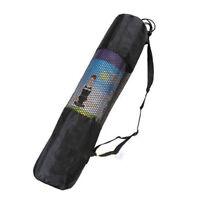 Room Gym Yoga Pilates Mat Nylon Bag Carrier Mesh Center Adjustable Strap Bag