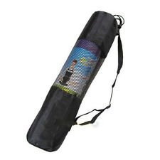 Portable Yoga Pilates Mat Nylon Bag Carrier Mesh Center Adjustable Strap Top