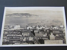 c 1930s RPPC Downtown San Francisco Docks Ships Yerba Buena Goat Island Oakland
