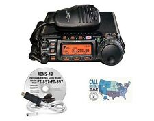 Yaesu FT-857D HF/VHF/UHF Mobile Radio with RT Systems Programming Kit Bundle!!