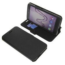 Funda para Wiko ROBBY Book Style PROTECTORA telefóno móvil estilo libro NEGRA
