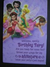 UNUSED greeting card BIRTHDAY Disney Tinker Bell & Fairies Games & Jokes inside