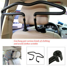 Car Seat Headrest Clothes Hanger Stainless Steel Coat Jacket Suit Holder Black