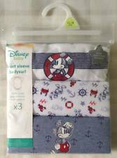 Disney Mickey Mouse 3 X Baby Boys Short Sleeve Bodysuits/vests/rompers 12-18m