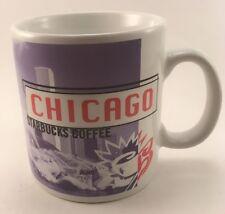 STARBUCKS CHICAGO COLLAGE SERIES COFFEE MUG 20oz 1998 PURPLE And RED