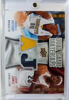 LeBron James & Carmelo Anthony 2009-10 Dual Game Materials #DG-JA Used Jersey