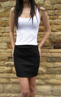 Top quality Cotton Stretch Elastane Mini High Waist skirt Size 8 10 12 14 16 18