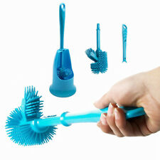 Blue Silicone Long Handle Toilet Brush - By TRIXES