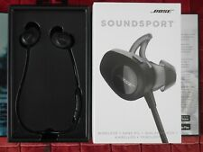 Genuine Bose Soundsport Wireless Bluetooth Earbuds Heaphones - Black
