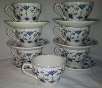 Churchill Finlandia 7 Flat Cups 6 Saucers New
