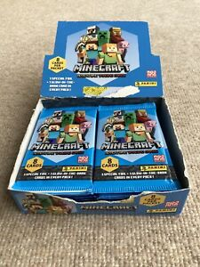 Panini Minecraft Adventure Trading Cards 18 Packets Full Display Box (144 Cards)