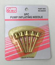 5pcs Ball Pump Inflating Needle Adaptor Valve Sports Football  Basketball-AU