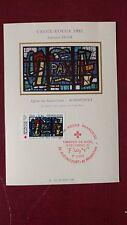 Carte 1er jour Audincourt vitrail de la Paix Croix-Rouge 1981 non pliée