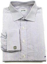 Ascot Chang Dress Shirt Large Mens Long Sleeve THOMAS MASON French Cuff Size Sz