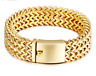 18K GOLD PLATED Silver Gold  Mens Stainless Steel Franco Chain Bracelet Bangle