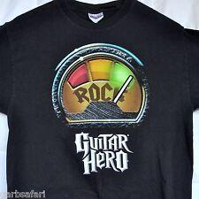 Guitar Hero I Rock Promo T-shirt Medium M + Stickers Activision Licensed 2007-08