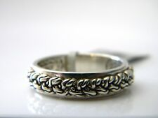 John Hardy Mens Size 10 Sterling Silver 6mm Classic Chain Band Ring NWT