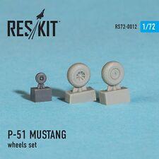 ResKit 72-0012 Wheels for North American P-51D MUSTANG resin wheels set in 1/72