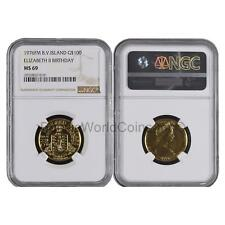 British Virgin Islands 1976 Birthday of Queen Elizabeth $100 Gold NGC MS69