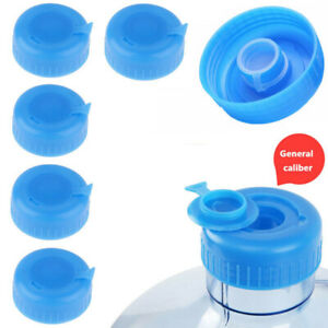 5 Reusable Water Bottle Screw On Cap Replacement 55mm 3-5 Gallon Jug Lid No leak