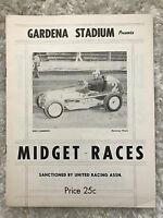 1957 Program Midget Auto Races at Gardena Stadium California~113037