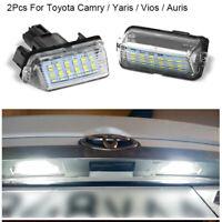 2 x LED Kennzeichenleuchte Nummerschildleuchte Weiß Für Toyota Corolla Camry
