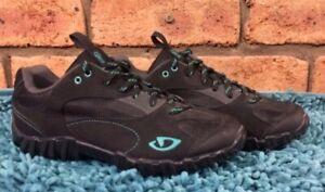 Giro Black Dynasty Green PetraWomens MTB Shoes SH56 Cleats US 7.5 UK 5.5