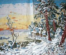 EP 249 Poman Winter Snow Cottage Tramme Needlepoint Canvas