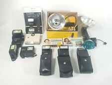 Lot of 13 Vintage Camera Flash's And Bulbs Vintage Flash And Accessories 13