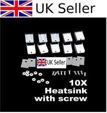 10 x TO220 ANODIZED ALUMINUM HEATSINK HEAT-SINK 15*20 P  UK SELLER  1141nigel >