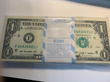 2009 STAR NOTE $1 Dollar Bill , Crisp, consecutive,uncirculated *GEM* 1 Note