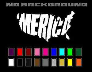 MERICA United Stated USA Patriotic Decal Vinyl Sticker - Car Truck Window Wall