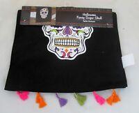 Day of the Dead Halloween Skeleton Sugar Skull Party Decor Table Cover Runner