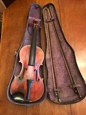 Vintage Sewickley Pa. 4/4 Violin made by Geo. F. Walker 1910