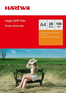 OHP Film A4 Clear with White Strip For Inkjet Printing - 20 Sheet Transparency