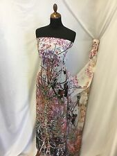 "NEW Designer Forest Chiffon Print Fabric 58"" 149cm High Society Dress Dolce She2"