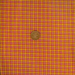 Timeless Treasures Woven C1123 Orange/Pink/Yellow 100% Cotton Fat Quarter