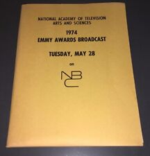 RARE 1974 NBC EMMY AWARDS TV SCRIPT & PRESS KIT WITH BINDER - LOADED - XF!