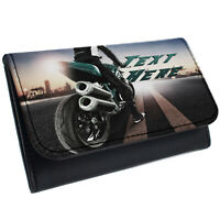 Motorbike Tobacco Pouch Rolling Baccy Wallet Smoking Personalised Gift KS34