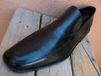 ERMENEGILDO ZEGNA Mens Dress Shoes Elegant Soft Black Italian Loafers Size 12D