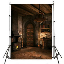 5x7ft Fire Place Retro Wood Indoor Background Backdrop Photography Props Cloth