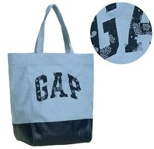 Gap Woman New England Sky Blue Arch Logo Canvas Tote Bag Handbag