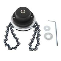 65Mn Brush Cutter Trimmer Head Coil Chain Kit for Lawn Mower Black