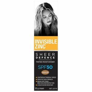 Invisible Zinc Tinted Moisturiser Medium SPF 50+ 50g Cream - Buy More and Save!