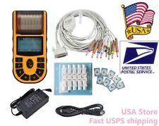 CONTEC ECG80A Portable Hand-held Single Channel ECG EKG machine PC Software,USA