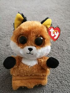 TY SLY THE FOX BRAND NEW PEEK A BOO MOBILE PHONE HOLDER PLUSH BEANIE SOFT T0Y
