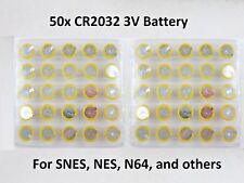50 Replacement Battery - Super Nintendo NES SNES CR2032 Tabbed Tab Batteries