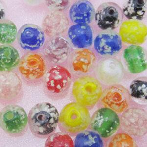 50~100PCS Luminous Lampwork Glass Round Beads 10mm Multicolor Glow in the Dark
